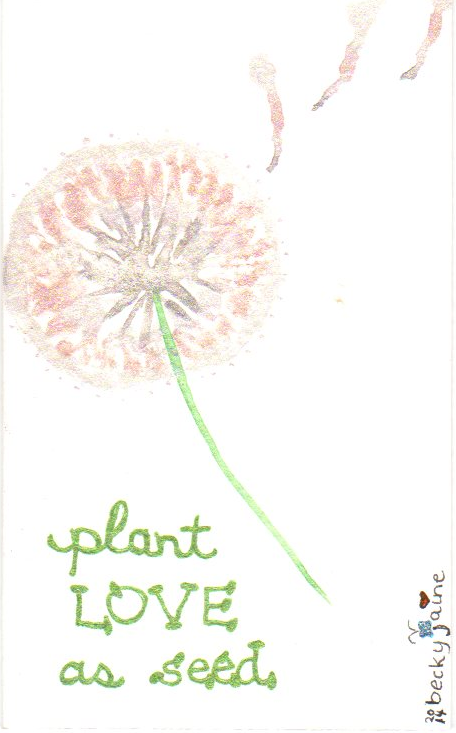 plant love as seed becky jaine 2014 watercolor