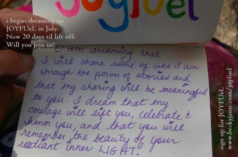 joyfuel dreaming july