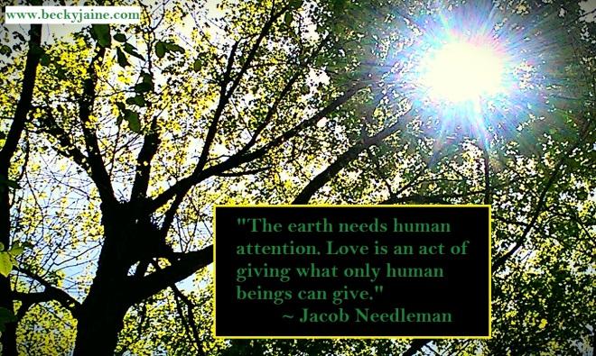 jacob needleman earthday 2015